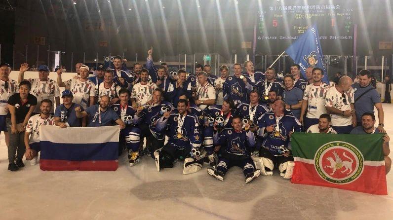 Татарстанское «Динамо-МЧС» - чемпион мира по хоккею на Всемирных играх полицейских и пожарных