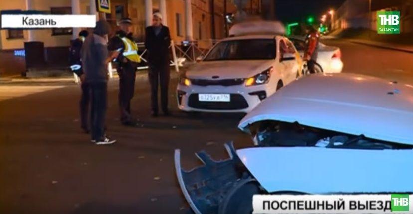 В Казани пострадали 2 человека в результате аварии Kia и BMW