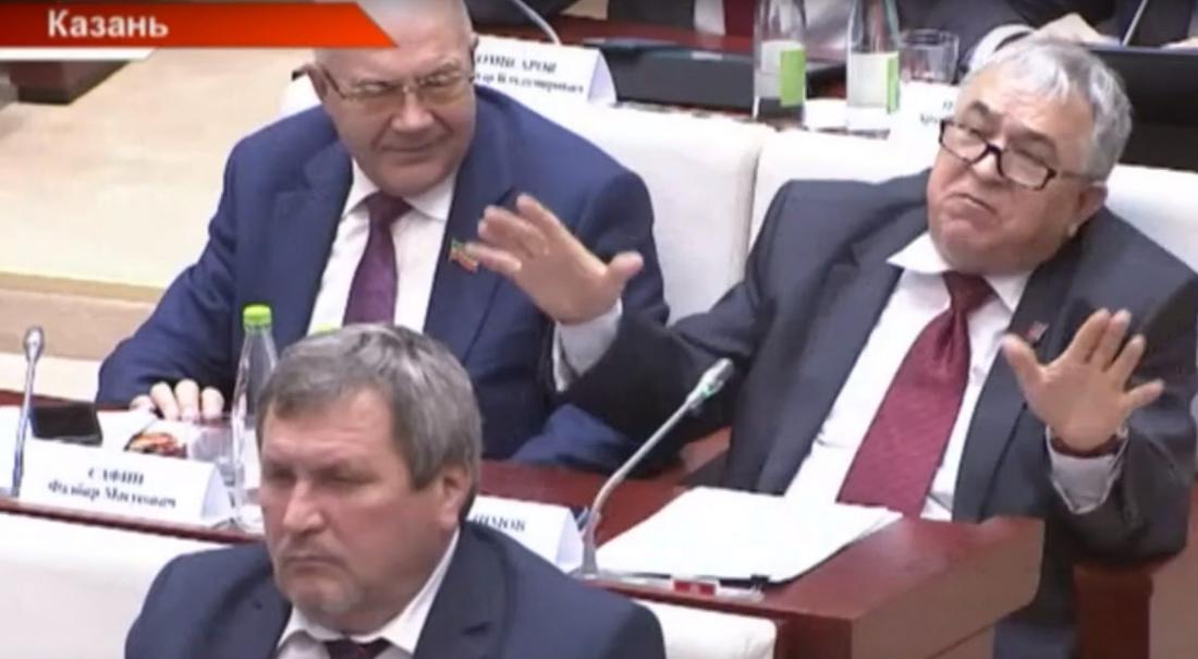 Главный коммунист Татарстана демонстративно хлопнул дверью на заседании парламента (ВИДЕО)