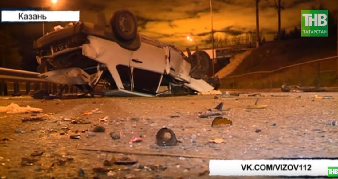 На трассе в Татарстане погиб мужчина, вылетев на легковушке в кювет