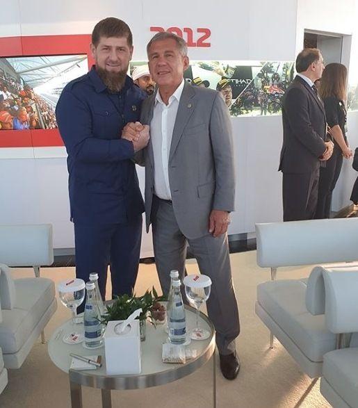 Минниханов и Кадыров встретились на финале «Формулы-1» в Абу-Даби
