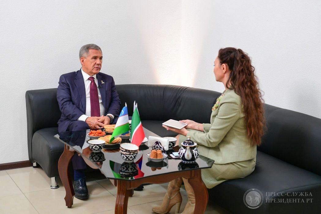 Рустам Минниханов о дружбе Татарстана и Узбекистана: «Они любят татар, а мы их – взаимно» (ВИДЕО)
