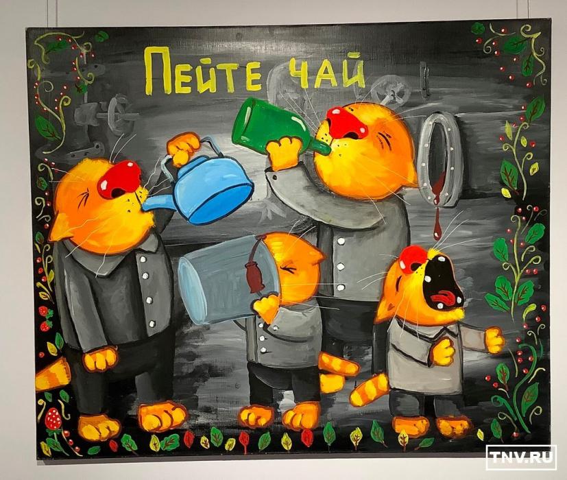 «Восход нового солнца!»: Вася Ложкин первый раз привез в Казань своих реалистичных котиков (ФОТО)