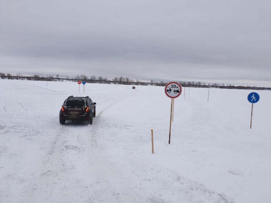 В Елабужском районе закрыли ледовую переправу через Каму