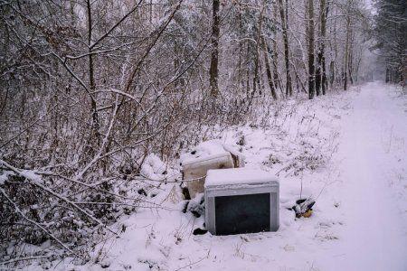 В Казани образовались незаконные снежные свалки (ВИДЕО)
