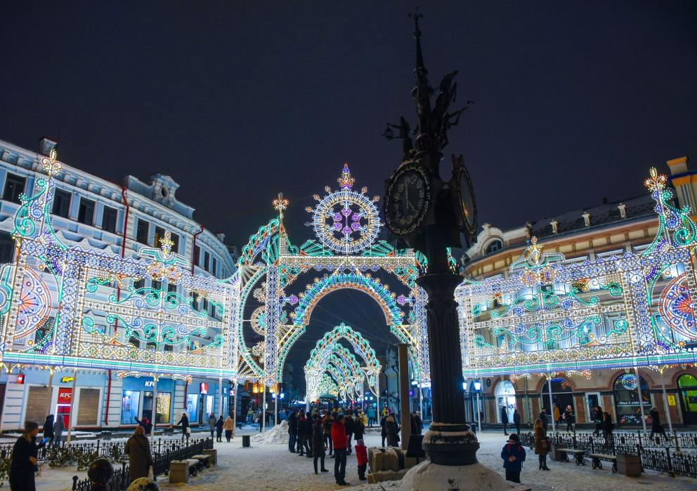 В Казани две улицы для фото оказались самыми популярными в новогодние праздники