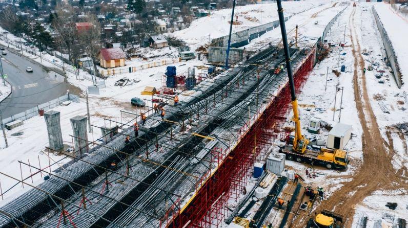 В Казани продолжаются строительные работы 1 этапа Большого казанского кольца (БКК)