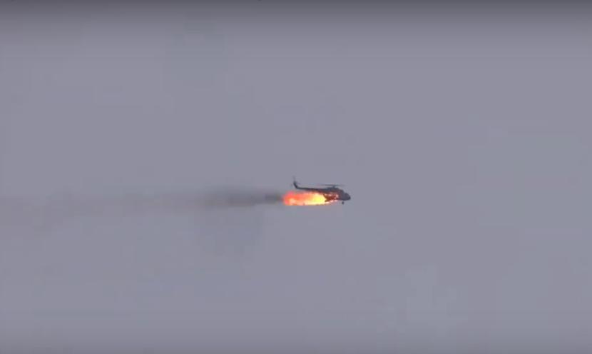 СМИ сообщили о новом вертолете ВС Сирии сбитом боевиками