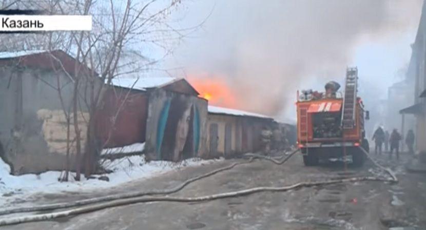 В Казани бездомный спровоцировал крупный пожар