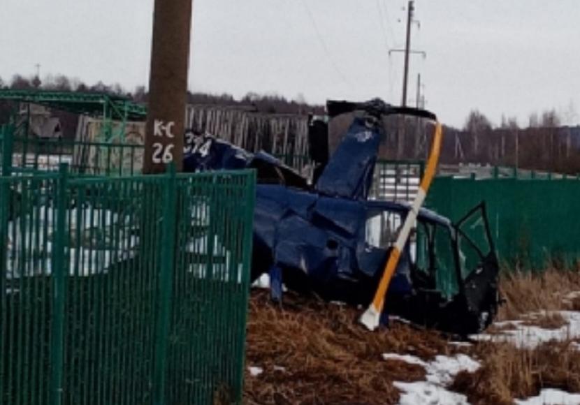 В Ярославской области рухнул вертолет российского бизнесмена Андрея Шелестова