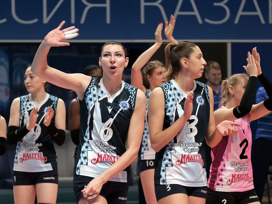 «Динамо» заняло первое место в «регулярке» женской суперлиги