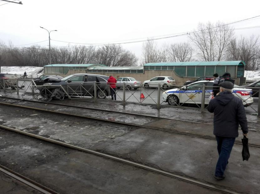 В районе казанского Речного техникума произошла массовая авария