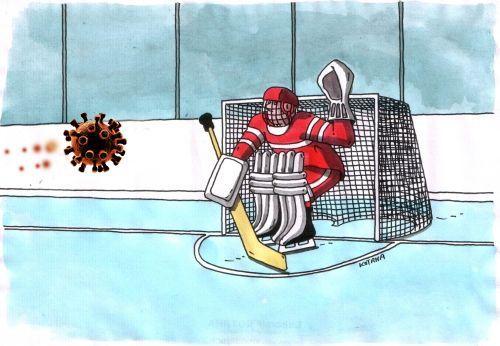 Юмористический журнал «Чаян» опубликовал карикатуру о приостановке плей-офф КХЛ