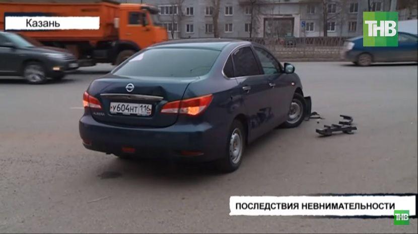 Из-за невнимательности автоледи в Казани произошла массовая авария