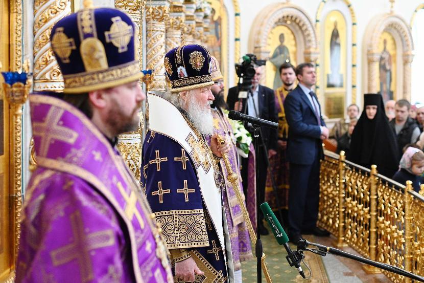 Патриарх Кирилл заявил, что коронавирус послан на людей богом за их гордыню
