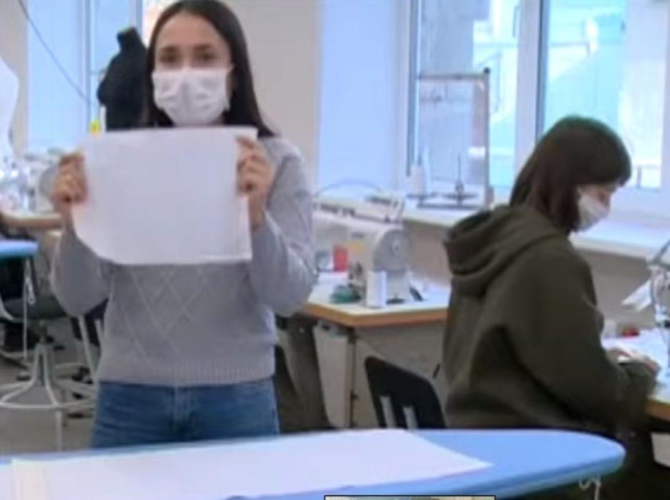 «Маски от масс»: в Казани студенты сели за швейные машинки