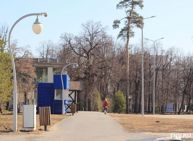 Пустующий парк ДК Химиков