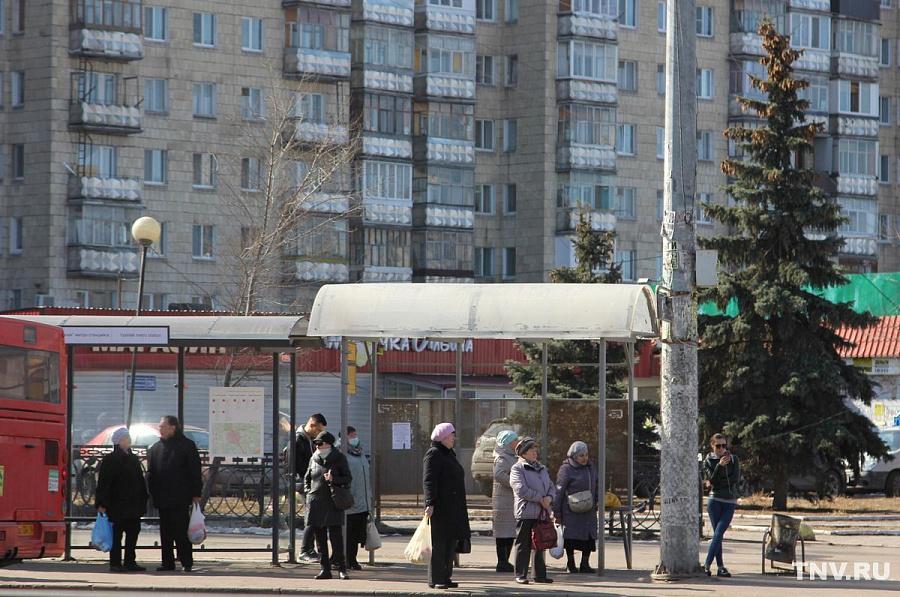 На одной из казанских автобусных остановок