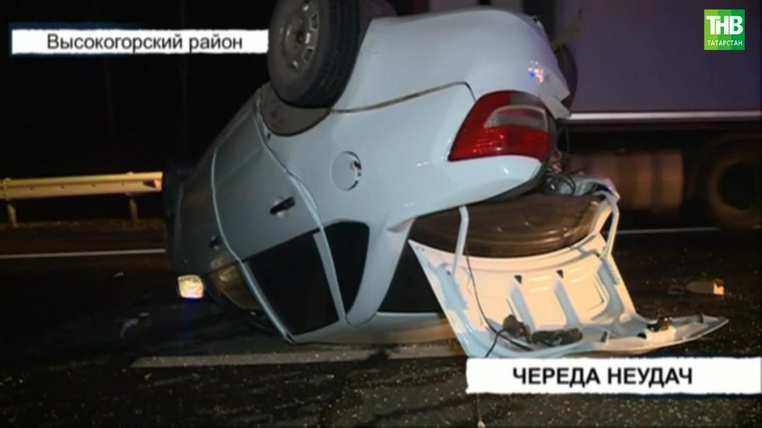 В Татарстане в результате ДТП «Лада Гранта» перевернулась на крышу