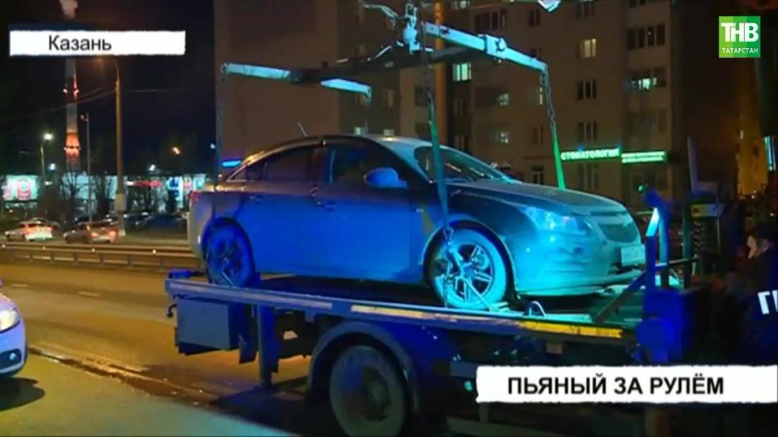 В Казани нетрезвый автомобилист из Таджикистана протаранил «Порше»