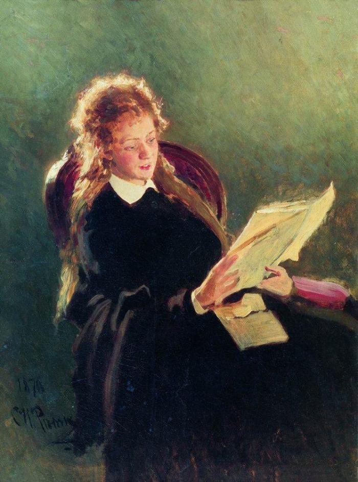 О чем рассказывает картина Ильи Репина «Читающая девушка»?