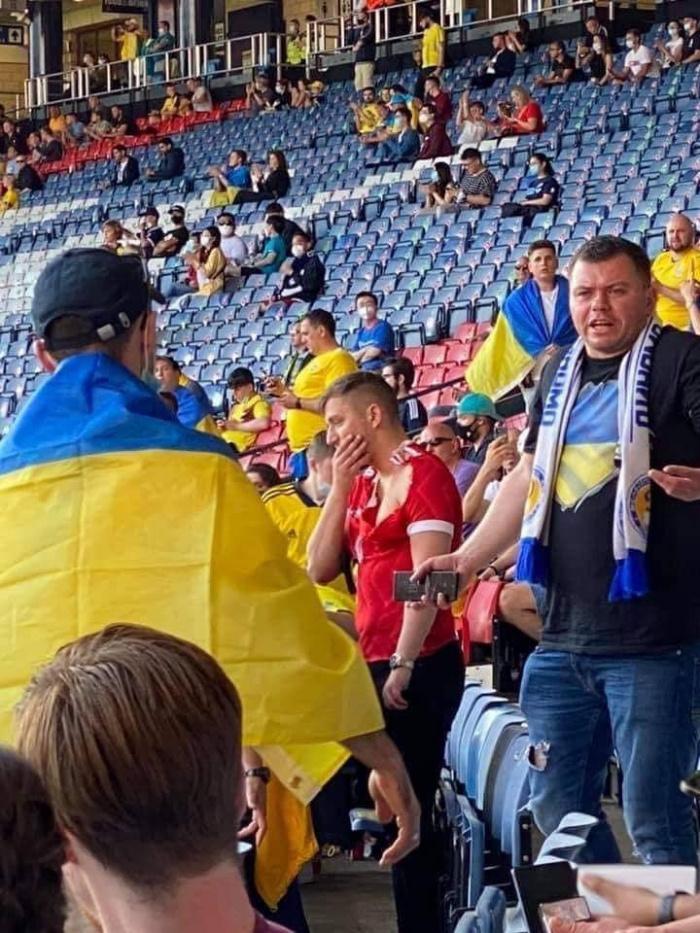 Российского фаната избили на матче сборной Украины на Евро-2020, фото попало в сеть