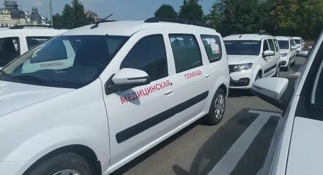 Татарстанның 42 район хастаханәсе бүген яңа автомобилләргә ия булды