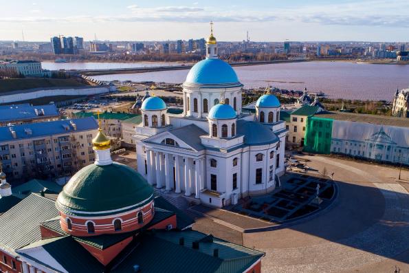 Прямая трансляция на ТНВ: Великое освящение воссозданного Казанского собора