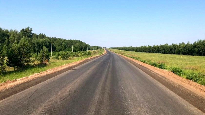По нацпроекту в Агрызском районе РТ отремонтировали более 3 км региональной дороги