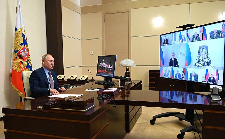 Одной из тем на встрече Путина с Совбезом РФ стала ситуация в Афганистане