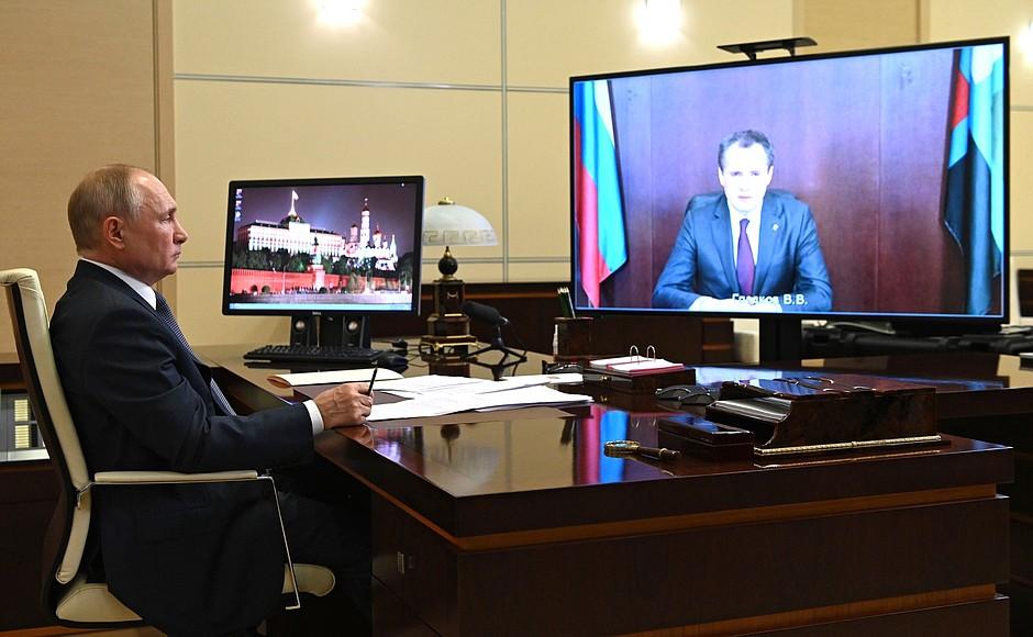 Путин пообещал помочь решить вопрос с нехваткой воды в Белгородской области