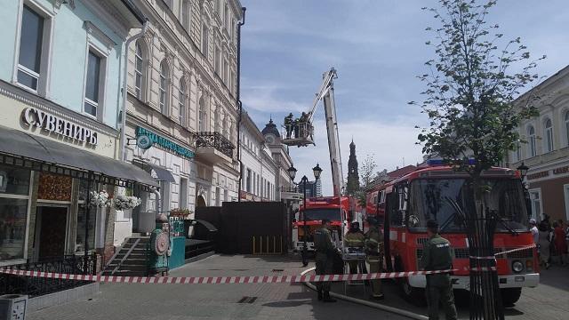 В центре Казани вспыхнула крыша исторического здания XIX века