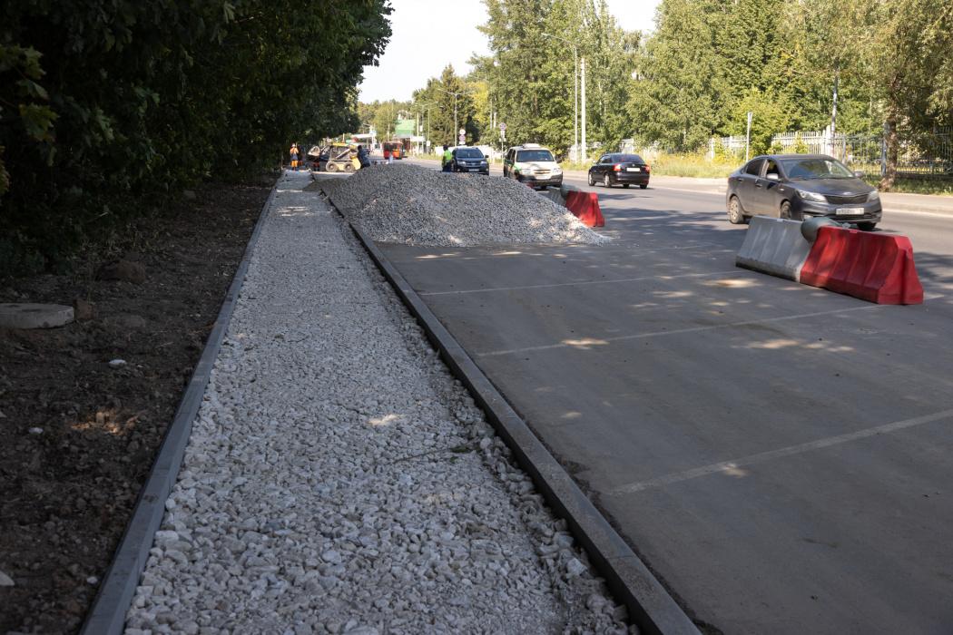 В Казани дорогу на улице Рауиса Гареева отремонтировали по нацпроекту на 40%
