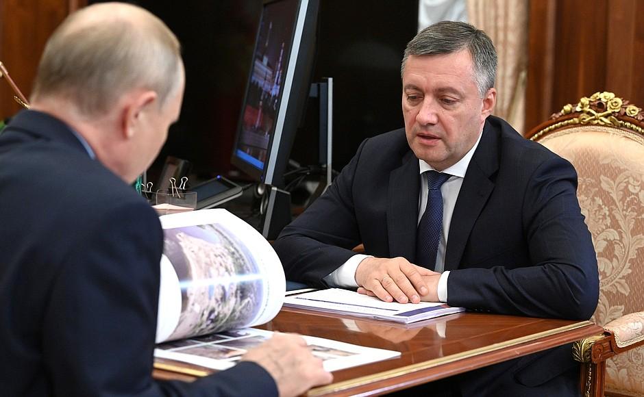 Губернатор Иркутской области попросил у Путина финансовой поддержки