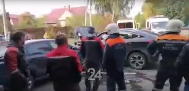 В Казани водитель иномарки умер прямо за рулем, спровоцировав массовое ДТП – видео