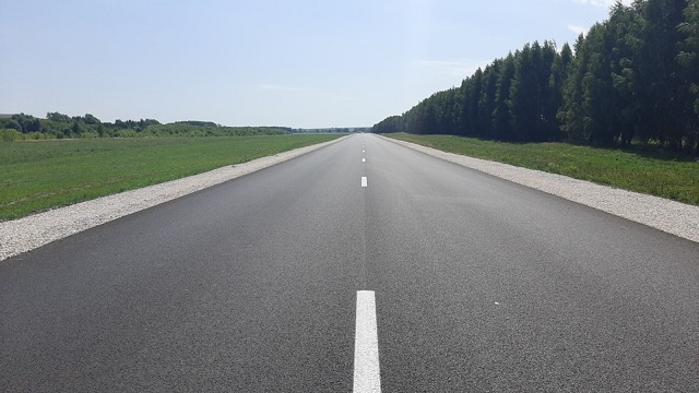 В Татарстане по нацпроекту отремонтировали 1,5 км региональной дороги